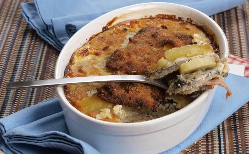Reņģu un kartupeļu sacepums recepte