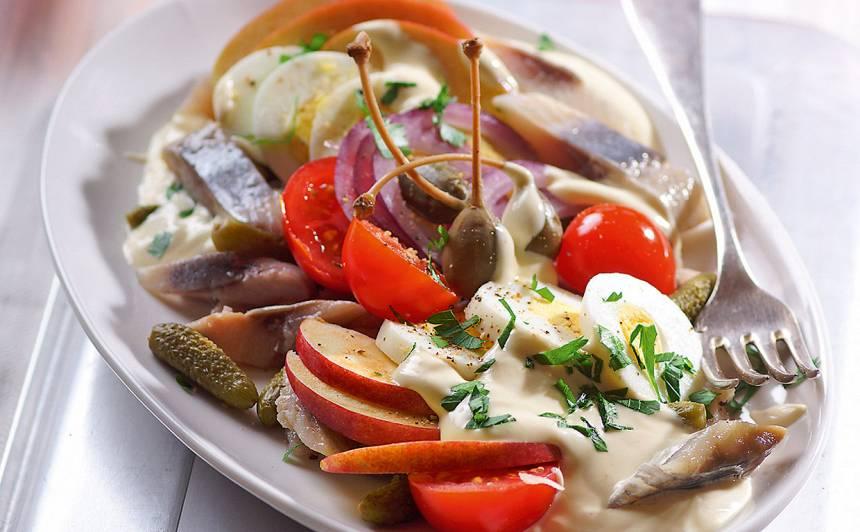 Siļķu salāti recepte