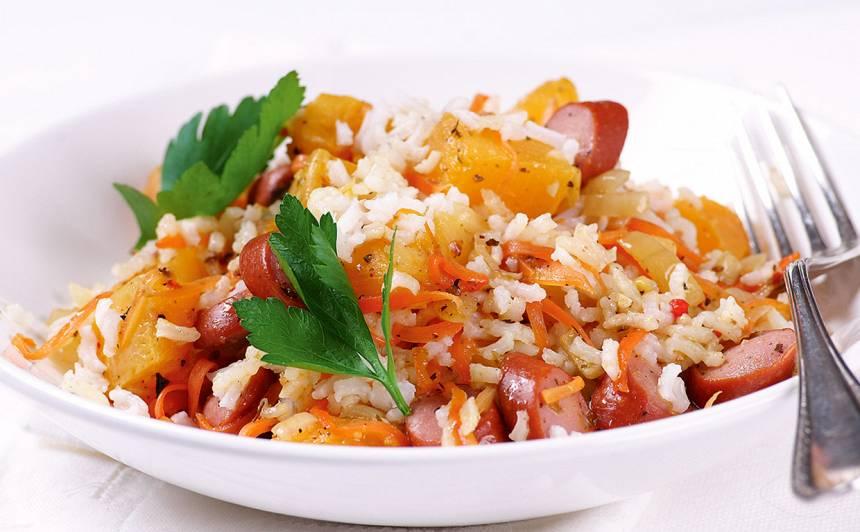 Sautēts ķirbis ar rīsiem recepte