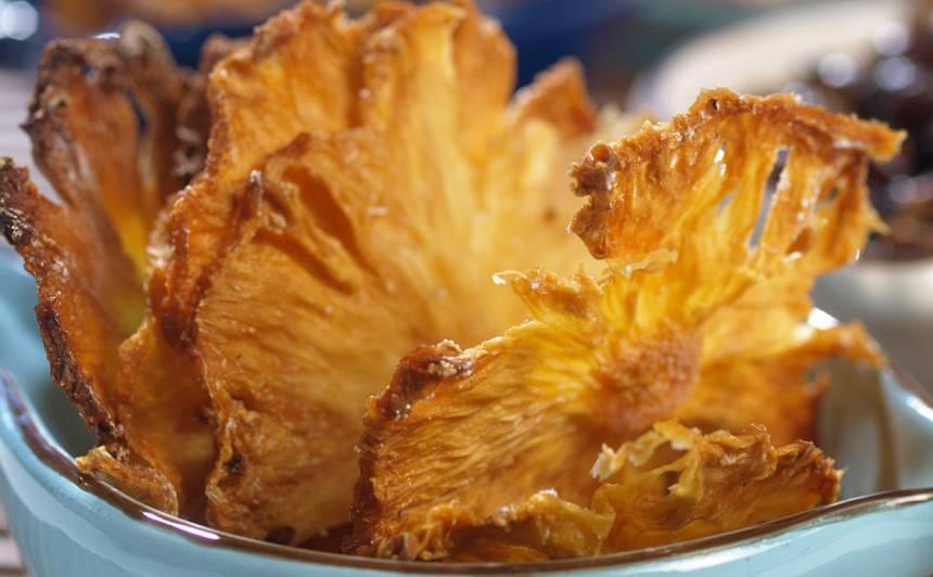 Ananasu čipsi recepte