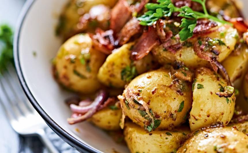 Siltie jauno kartupeļu salāti recepte