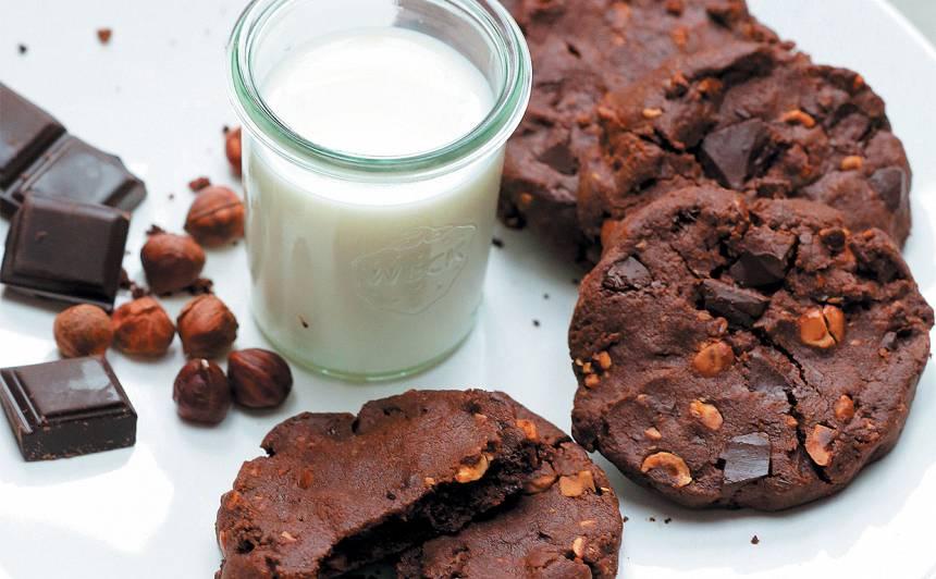 Lielie šokolādes cepumi recepte
