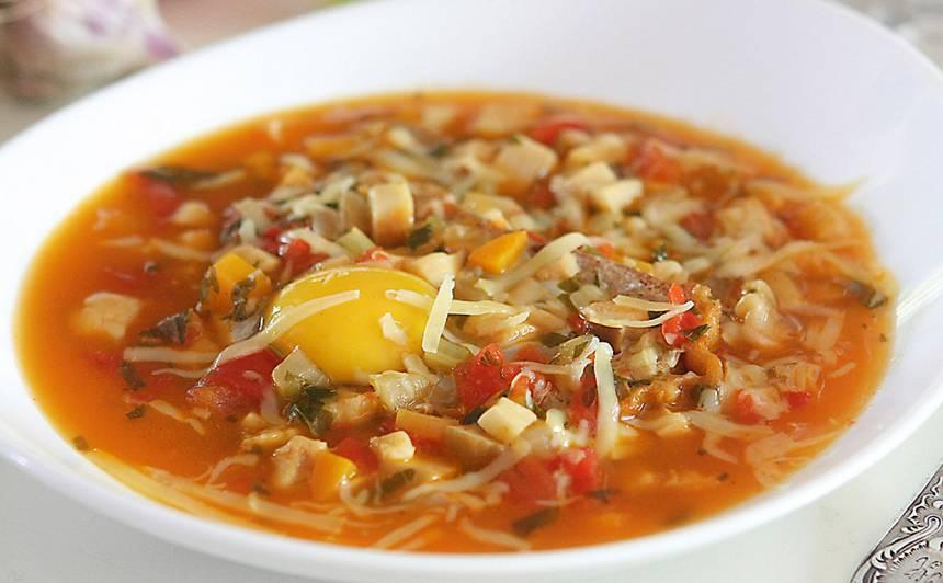 Sēņu zupa ar jēlu olu recepte