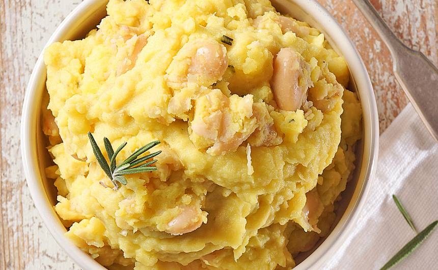 Kartupeļu un pupiņu biezenis