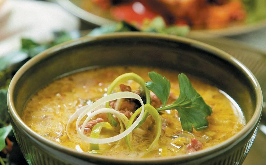 Puravu zupa recepte