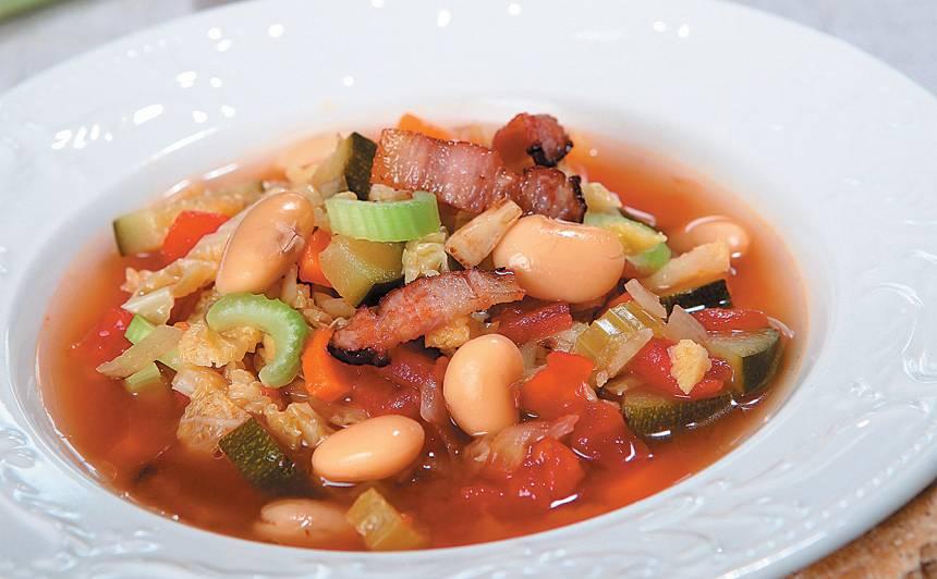 Pupiņu zupa itāliešu gaumē recepte