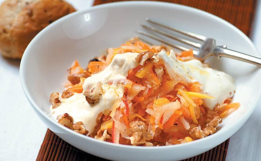 Dārzeņu salāti ar ķirbi recepte