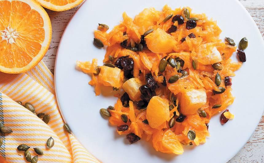 Ķirbja salāti ar apelsīnu