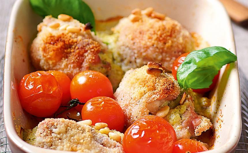 Vista ar pesto un ceptiem tomātiem recepte