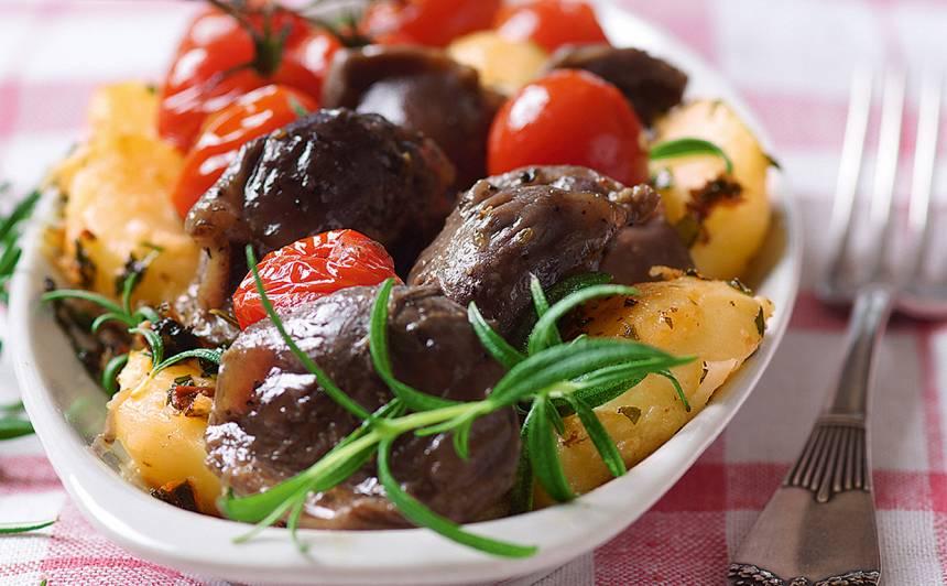 Zosu guzas zaļumu kartupeļos recepte