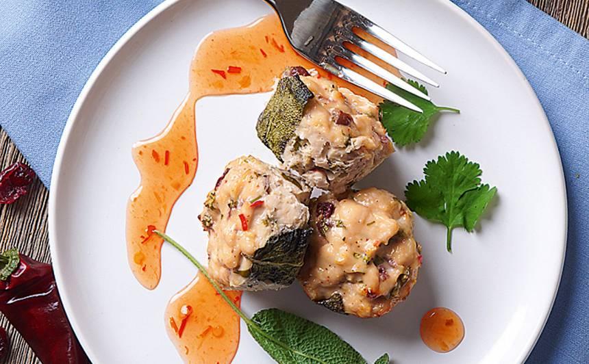 Vistas gaļas un kokosriekstu bumbiņas recepte