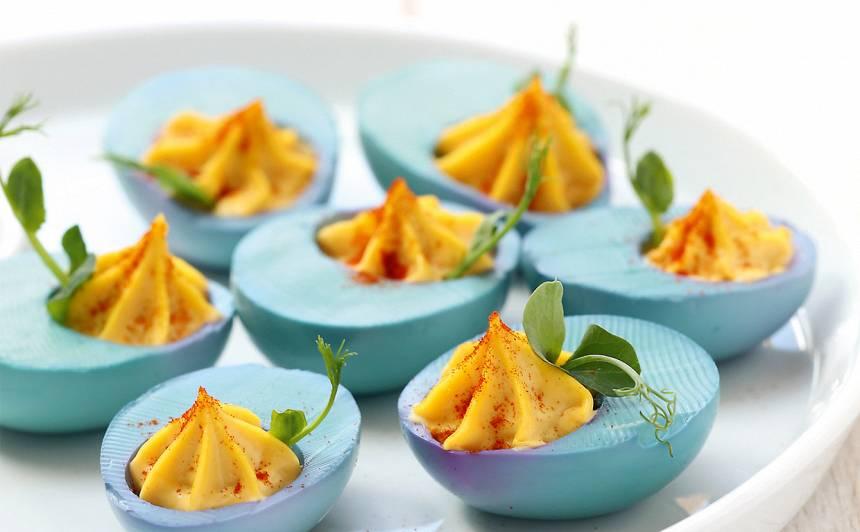 Zili dzeltenās olas recepte