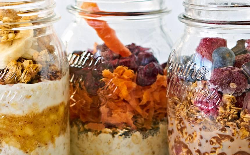 Brokastu burciņa ar rīvētu burkānu recepte
