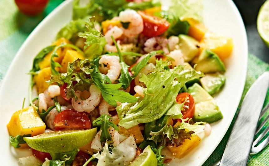 <strong>Garneļu salāti</strong> ar laimu