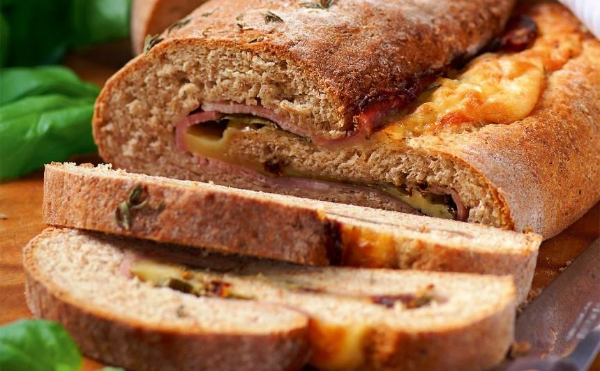 Maize ar šķiņķi, sieru un timiānu recepte