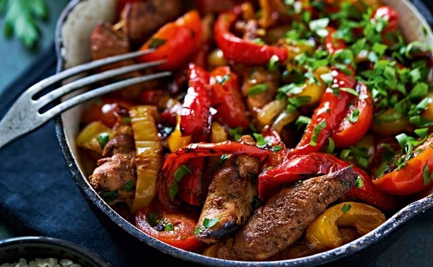 Cepta paprika  ar vistas fileju recepte