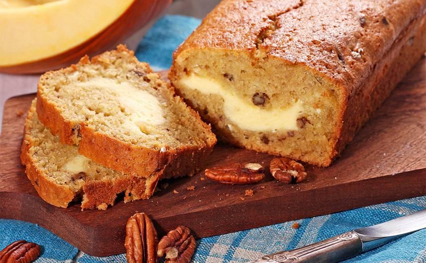 Ķirbja maize ar krēmsiera pildījumu recepte
