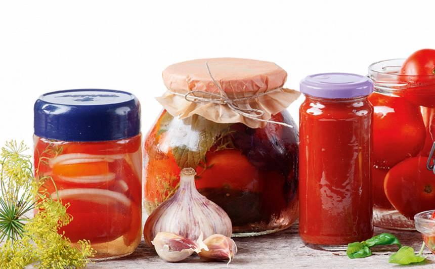 Pasterizēti tomāti marinādē recepte
