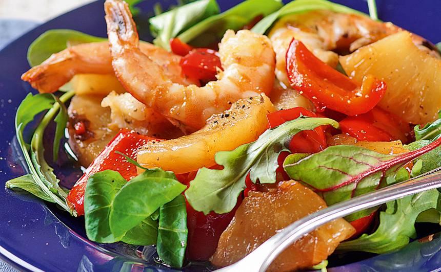 Karstie garneļu salāti
