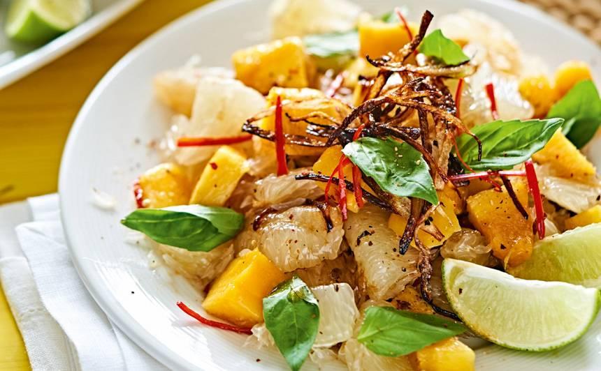 Pomelo salāti ar mango recepte