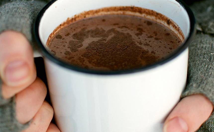 Siltais šokolādes dzēriens recepte