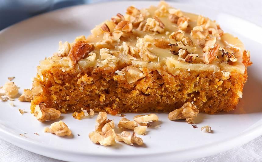 Burkānu un valriekstu kūka recepte