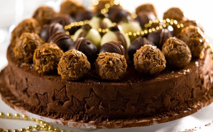 Šokolādes trifeļu kūka recepte