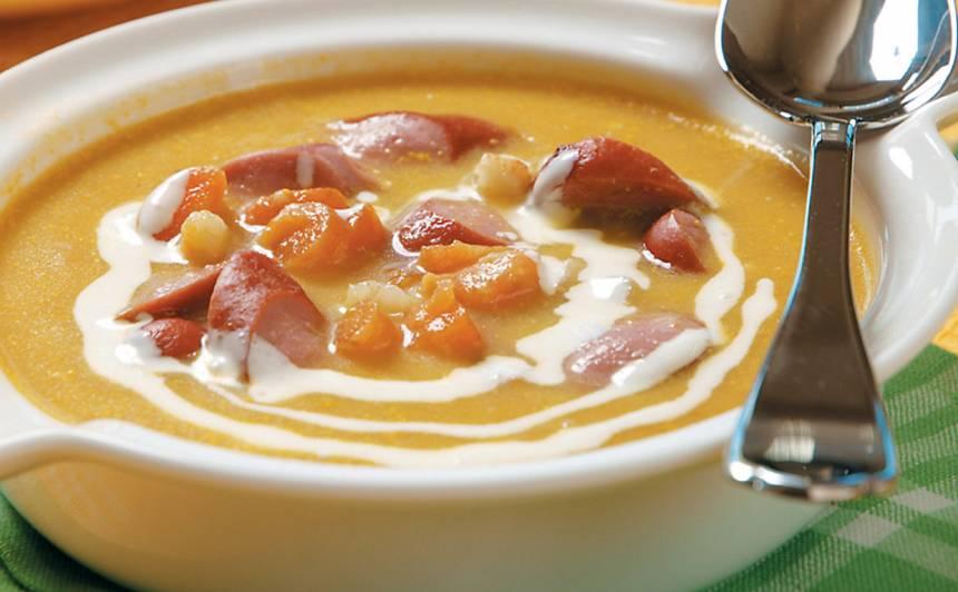 Kartupeļu zupa ar desiņām recepte