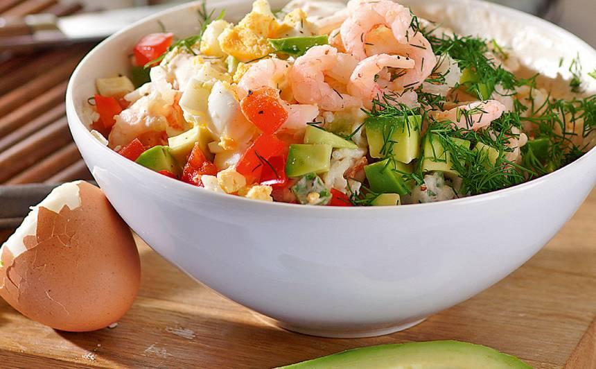 Rīsu un  garneļu salāti recepte