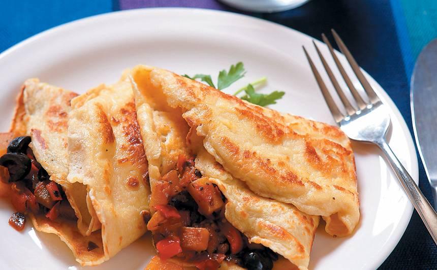 Pankūkas ar dārzeņiem recepte