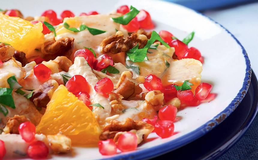 Vistas salāti ar granātābolu recepte