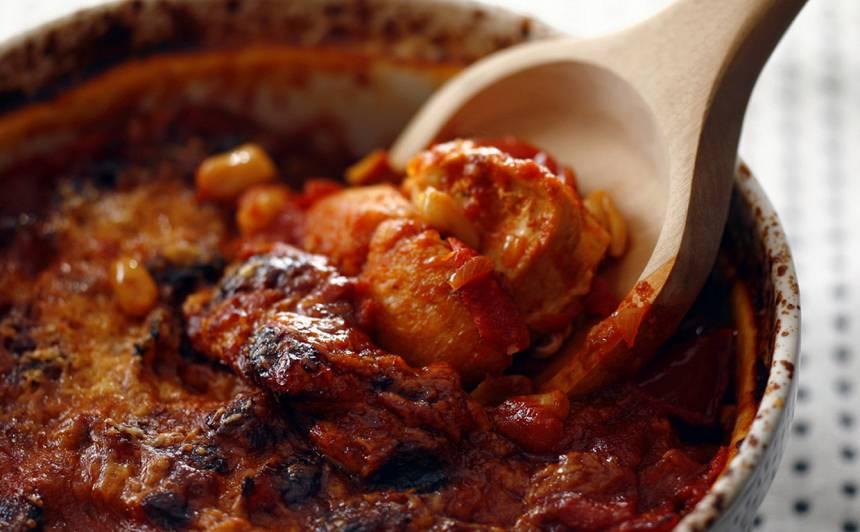 Vistas un tomātu sacepums ar riekstiem recepte