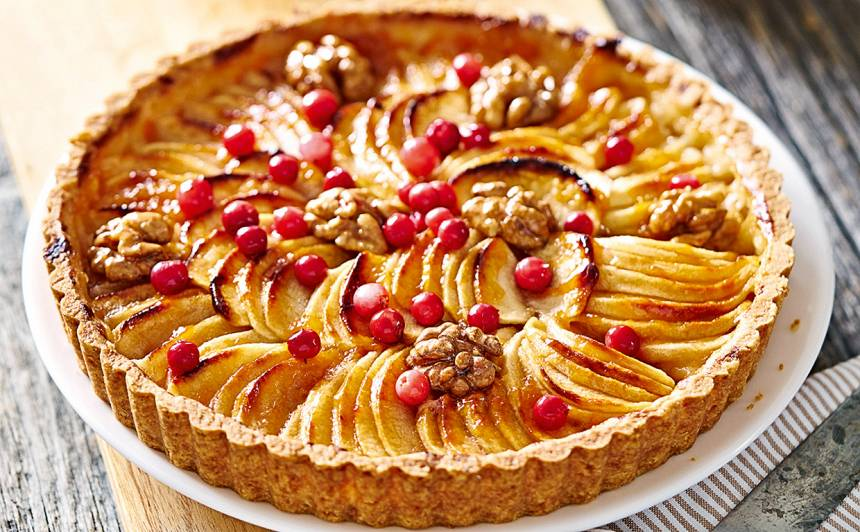 Smilšu mīklas ābolu tarte recepte