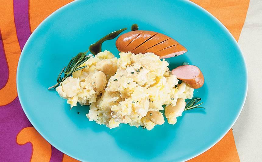 Pupiņu un kartupeļu biezenis
