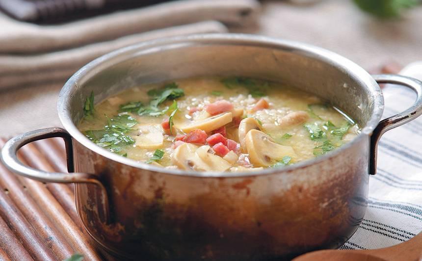 Putraimu zupa ar sēnēm recepte
