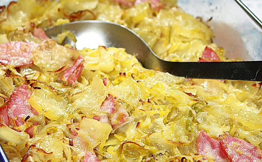 Puravu un kartupeļu sacepums recepte