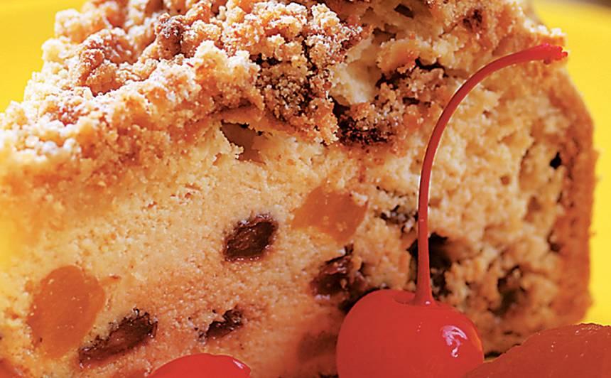 Biezpiena kūka ar žāvētām aprikozēm recepte