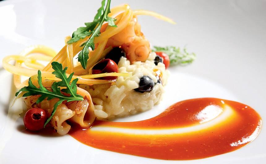 Grilēta kalmāra fileja ar melleņu risoto recepte