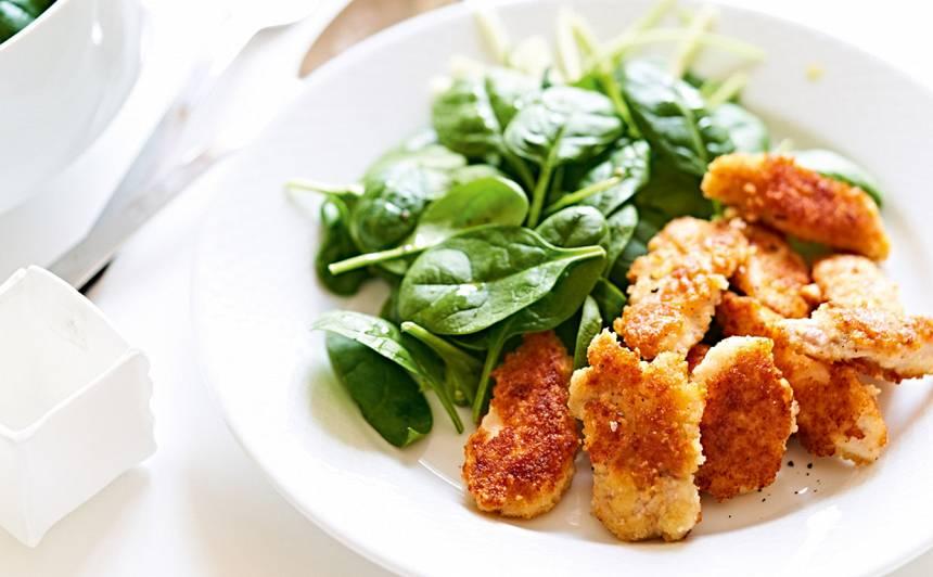 Salāti ar kraukšķīgo vistu recepte