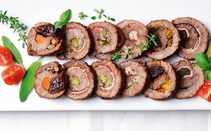Pildītas liellopa gaļas ruletītes recepte