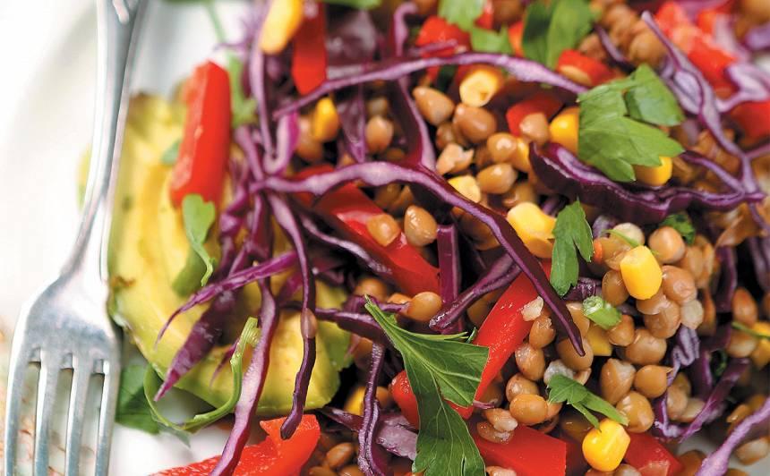 Lēcu salāti meksikāņu gaumē recepte