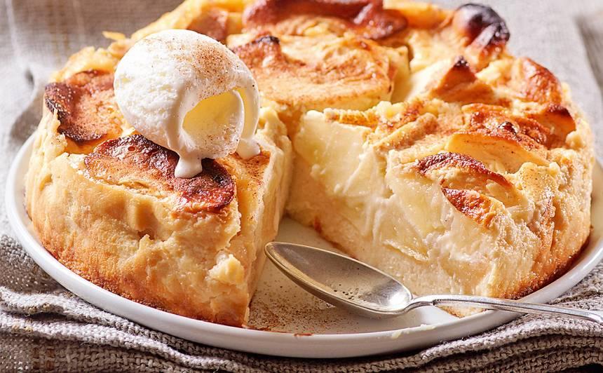 Krēmīgā ābolkūka receptes