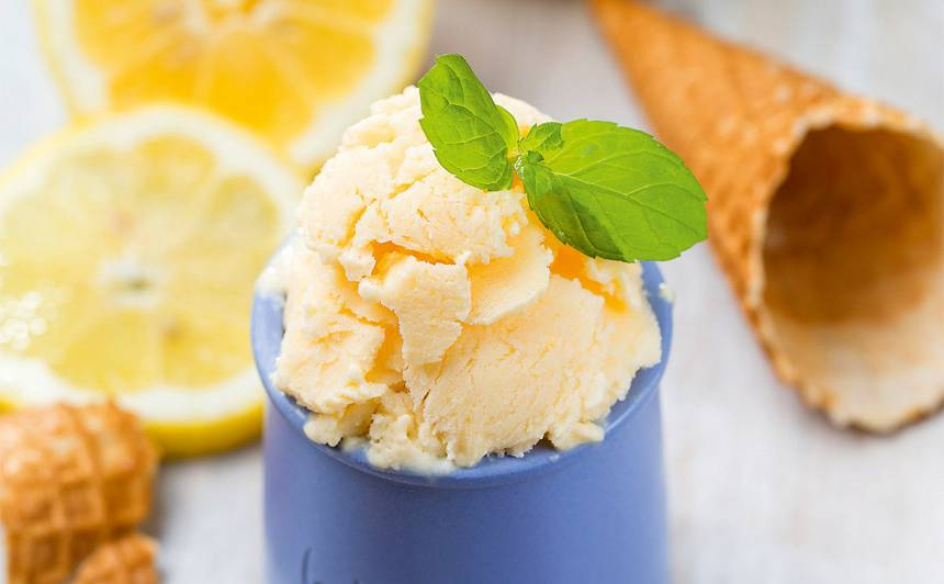 Spirgtais citronu saldējums recepte