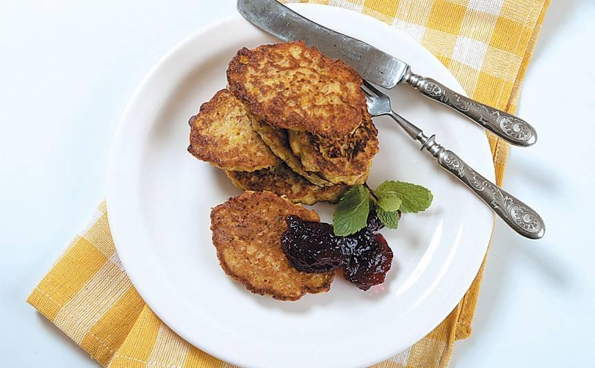 Pankūkas ar ķirbi un ābolu recepte