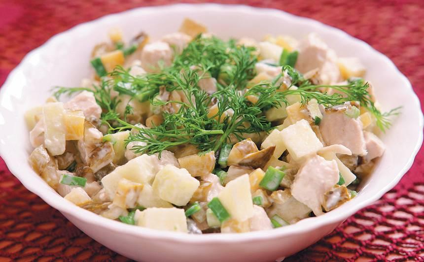 Vistas filejas salāti ar āboliem recepte