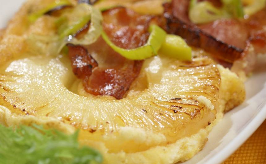 Omlete ar ananasu recepte