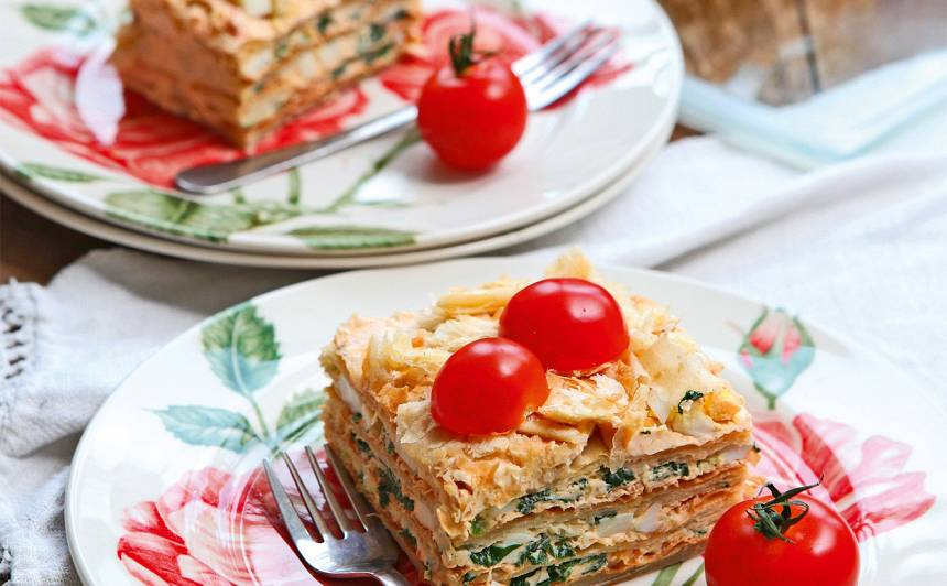 Sāļā torte ar svaigo sieru recepte