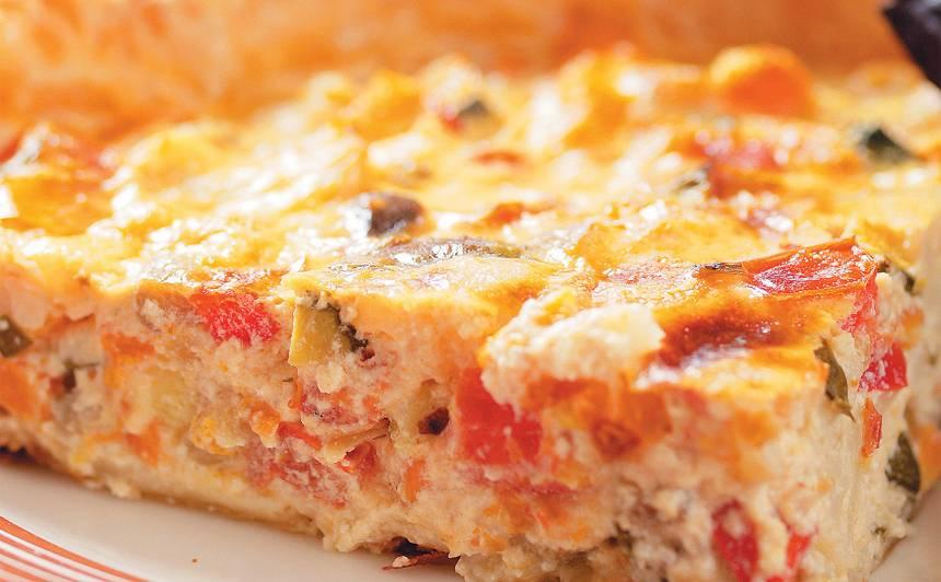 Dārzeņu un siera pīrāgs recepte
