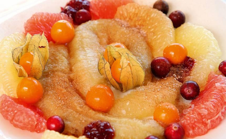 Greipfrūta deserts recepte
