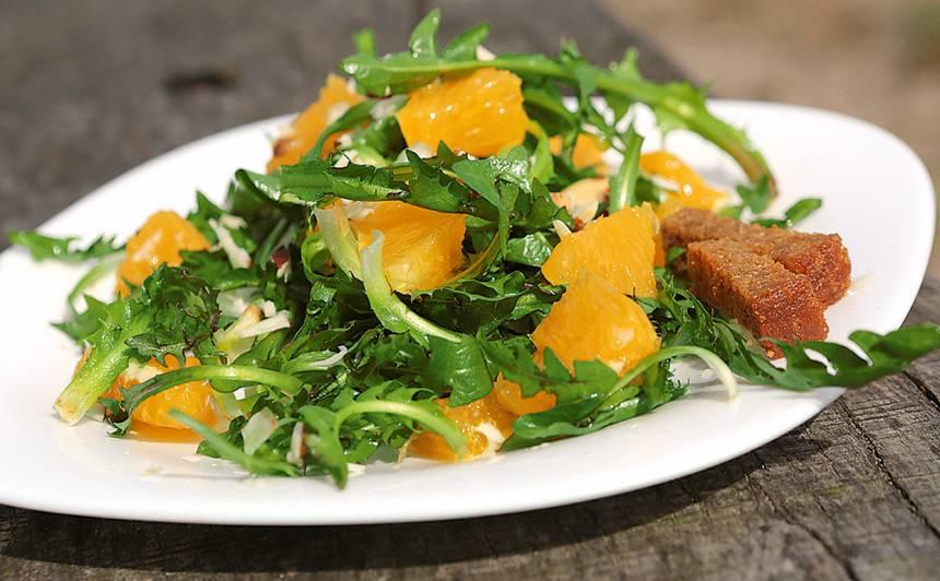 Mundrie pieneņu salāti recepte